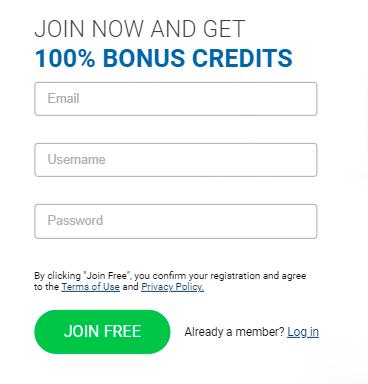 Registration process on ImLive
